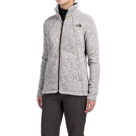 The North Face Crescent Knit Jacket - Full Zip (For Women) in Lunar Ice Grey Heather - Closeouts