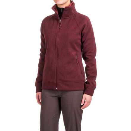 The North Face Crescent Raschel Knit Jacket - Full Zip (For Women) in Deep Garnet Red Heather - Closeouts
