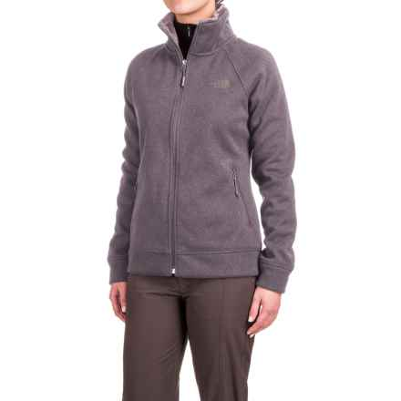 The North Face Crescent Raschel Knit Jacket - Full Zip (For Women) in Rabbit Grey Heather - Closeouts