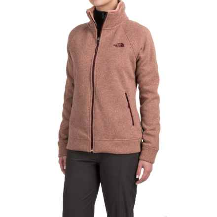 The North Face Crescent Raschel Knit Jacket - Full Zip (For Women) in Rose Dawn Heather - Closeouts