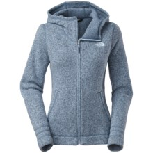 The North Face Crescent Sunset Fleece Hoodie - Full Zip (For Women) in Cool Blue Hther - Closeouts