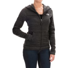 The North Face Crescent Sunset Fleece Hoodie - Full Zip (For Women) in Tnf Black Stria Print - Closeouts