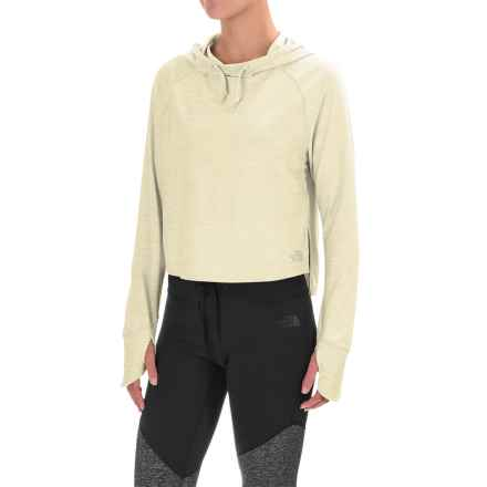 The North Face Cropped Motivation Hoodie (For Women) in Moonlight Ivory Heather - Closeouts