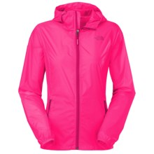 The North Face Cyclone Hooded Jacket (For Women) in Glo Pink - Closeouts