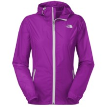 The North Face Cyclone Hooded Jacket (For Women) in Magic Magenta - Closeouts