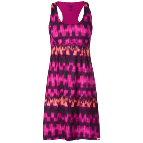 The North Face Cypress Dress - UPF 50, Sleeveless (For Women) in Fuschia Pink Ikat Print