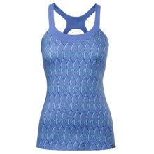 The North Face Cypress Tank Top - Built-In Shelf Bra, UPF 50 (For Women) in Vintage Blue Print - Closeouts