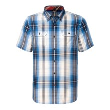 The North Face Delridge Shirt - Short Sleeve (For Men) in Clear Lake Blue - Closeouts