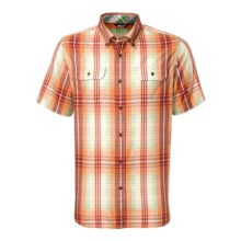 The North Face Delridge Shirt - Short Sleeve (For Men) in Topaz Orange - Closeouts
