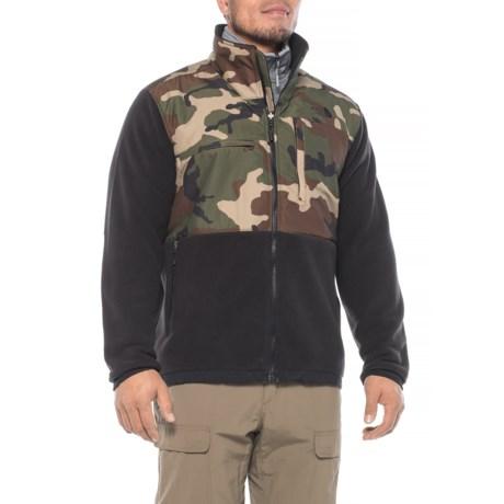 The North Face Denali 2 Polartec® Fleece Jacket (For Men) in Weathered Black/Terrarium Green Camo