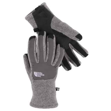 The North Face Denali ETIP Fleece Gloves - Touchscreen Compatible (For Women) in High Rise Grey Heather/Pache Grey - Closeouts