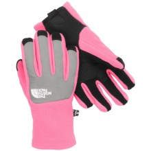 The North Face Denali Etip Gloves (For Little and Big Girls) in Gem Pink/Metallic Silver - Closeouts