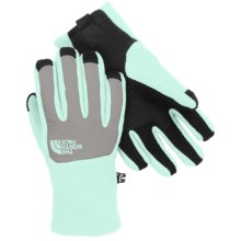 The North Face Denali Etip Gloves (For Little and Big Girls) in Surf Green/Metallic Silver - Closeouts