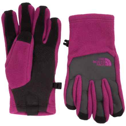 The North Face Denali Etip® Gloves (For Little and Big Kids) in Roxbury Pink - Closeouts