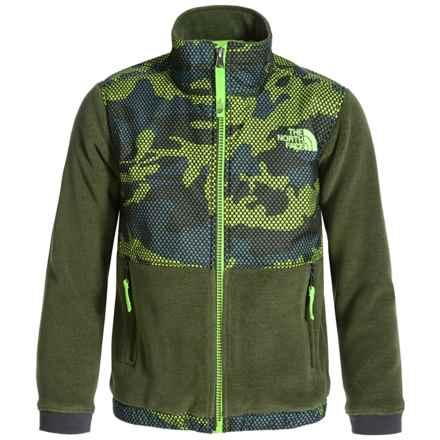 The North Face Denali Fleece Jacket (For Little and Big Boys) in Terrarium Green Mesh Camo - Closeouts