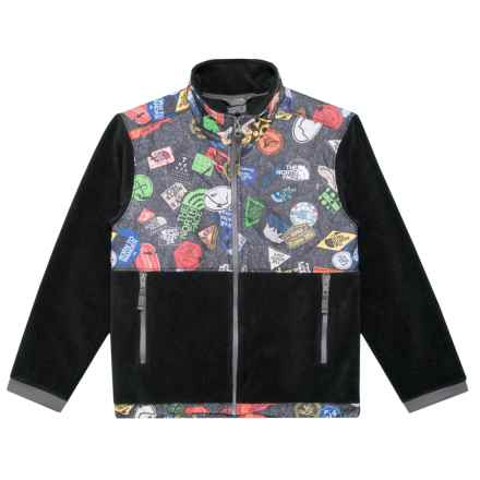 The North Face Denali Fleece Jacket (For Little and Big Boys) in The North Face Black Bombdiggty Print - Closeouts