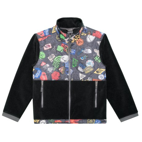 The North Face Denali Fleece Jacket (For Little and Big Boys) in The North Face Black Bombdiggty Print