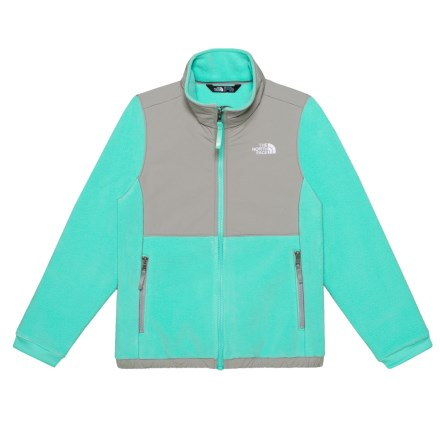 a017400caafd The North Face Denali Fleece Jacket (For Little and Big Girls) in Bermuda  Green