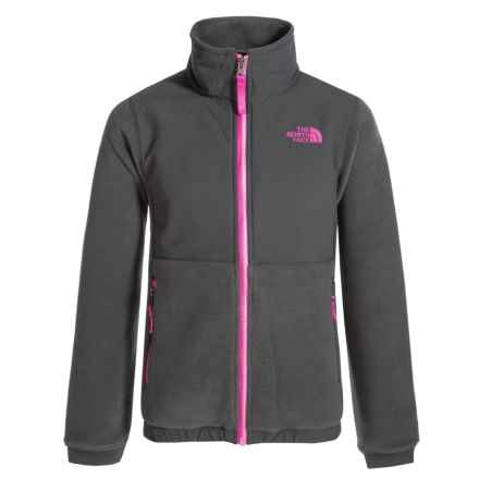 The North Face Denali Fleece Jacket (For Little and Big Girls) in Graphite Grey - Closeouts