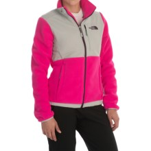 The North Face Denali Fleece Jacket (For Women) in Glo Pink/High Rise Grey - Closeouts