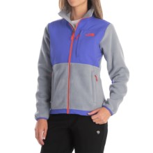 The North Face Denali Fleece Jacket (For Women) in Mid Grey/Starry Purple - Closeouts