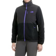 The North Face Denali Fleece Jacket (For Women) in Tnf Black/Starry Purple - Closeouts