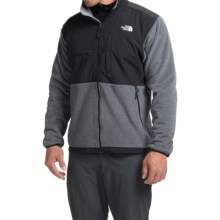 The North Face Denali Jacket - Polartec® Fleece (For Men) in Charcoal Grey Heather/Tnf Black - Closeouts