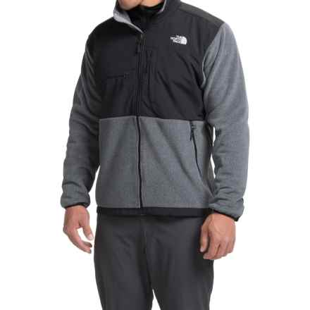 The North Face Denali Jacket - Polartec® Fleece (For Men) in Charcoal Grey Heather/Tnf Black - Closeouts