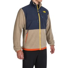 The North Face Denali Jacket - Polartec® Fleece (For Men) in Dune Beige Heather/Cosmic Blue - Closeouts