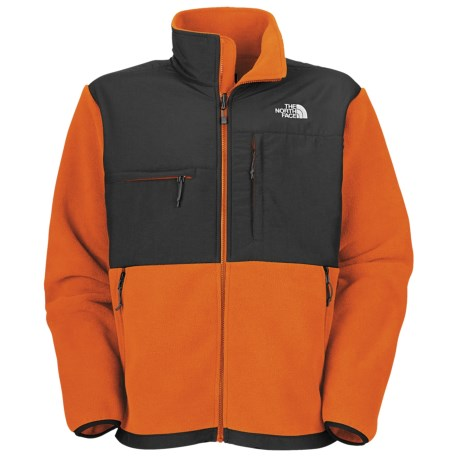The North Face Denali Jacket - Polartec® Fleece (For Men) in Oriole Orange/Asphalt Grey