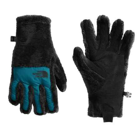 The North Face Denali Thermal Etip Gloves (For Women) in Tnf Black/Egyptian Blue - Closeouts