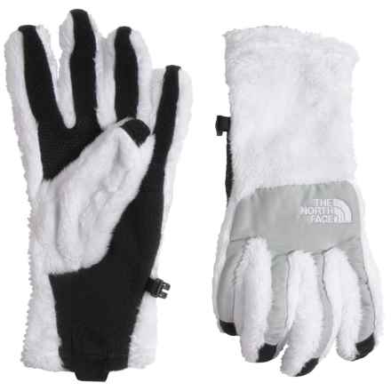 The North Face Denali Thermal Etip Gloves (For Women) in Tnf White/High Rise Grey Heather - Closeouts