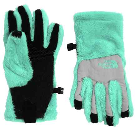 The North Face Denali Thermal Gloves - Touchscreen Compatible (For Little and Big Girls) in Ice Green - Closeouts