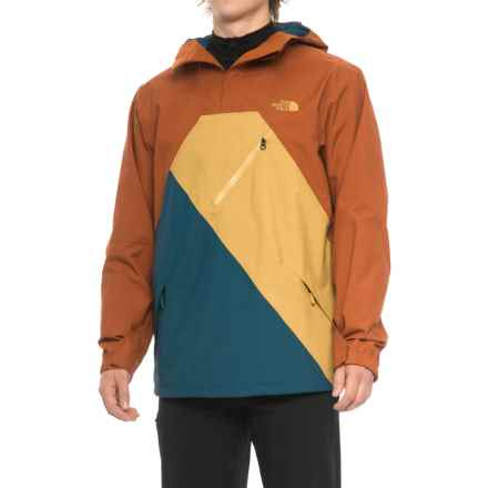 The North Face Dubs Ski Jacket - Waterproof, Insulated (For Men) in Gingerbread Brown/Prussian Blue/Bronze Mist - Closeouts