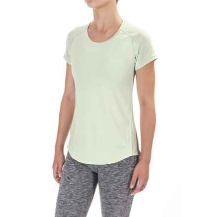 The North Face Dynamix T-Shirt - Short Sleeve (For Women) in Subtle Green Heather/Subtle Green - Closeouts