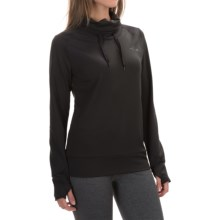 The North Face Dynamix Tech Shirt - Cowl Neck, Long Sleeve (For Women) in Tnf Black/Tnf Black - Closeouts