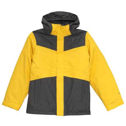 The North Face East Ridge Triclimate® Interchange Jacket - Waterproof, Insulated (For Big Boys) in Canary Yellow - Closeouts