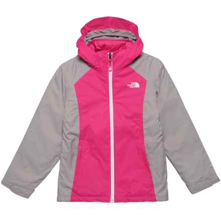 The North Face East Ridge Triclimate® Jacket - Waterproof, Insulated (For Big Girls) in Petticoat Pink - Closeouts