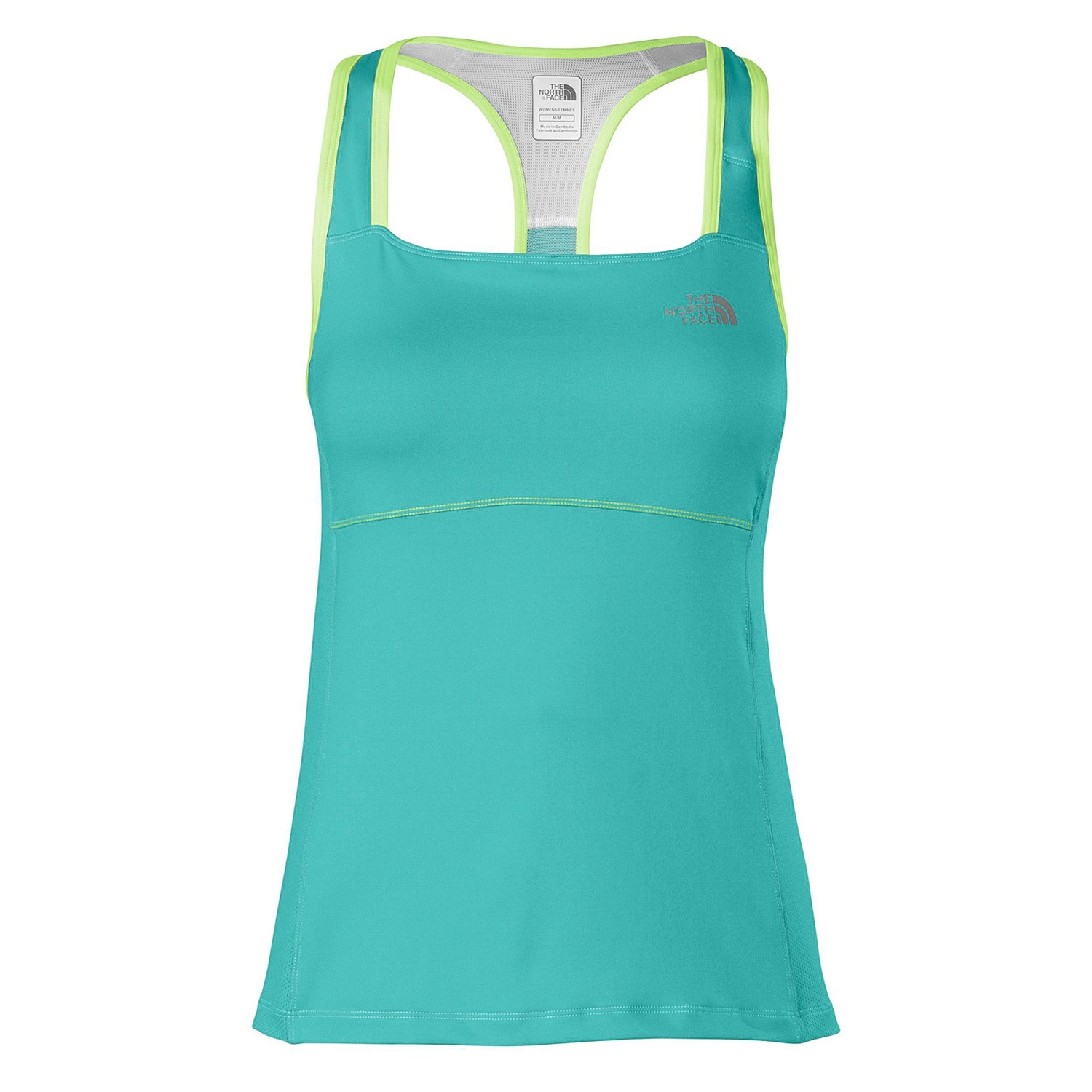 the north face eat my dust sport tank top built in shelf. Black Bedroom Furniture Sets. Home Design Ideas