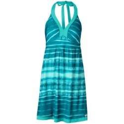 The North Face Echo Lake Dress - Halter, Swim Cover-Up (For Women) in Flamenco Blue Shibori Print