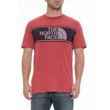 The North Face Edge to Edge T-Shirt - Short Sleeve (For Men) in Bossa Nova Red - Closeouts