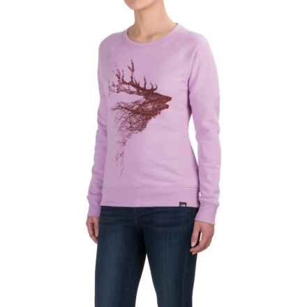 The North Face Elk Sweatshirt (For Women) in Lupine Light Heather (Std) - Closeouts