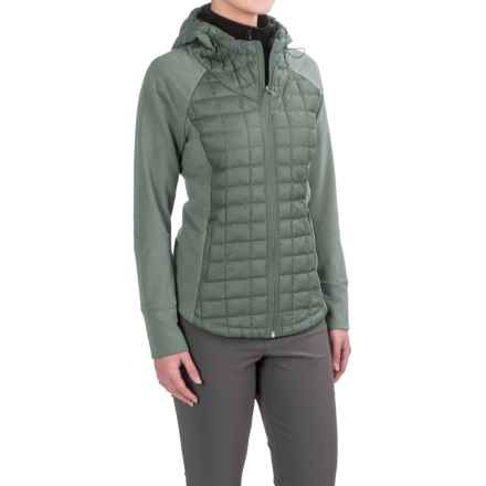 The North Face Endeavor ThermoBall® Jacket - Insulated (For Women) in Balsam Green/Balsam Green Light Heather (Std) - Closeouts