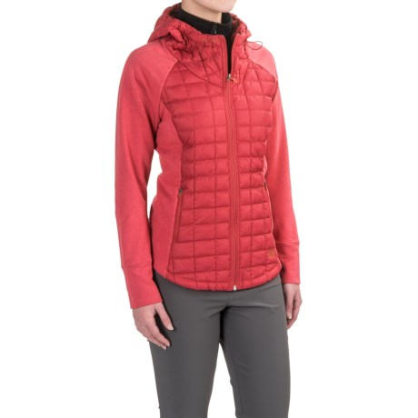 The North Face Endeavor ThermoBall® Jacket - Insulated (For Women) in Melon Red/Melon Red Light Heather (Std)
