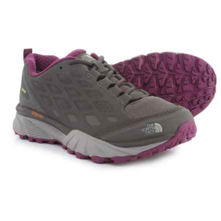 The North Face Endurus Hike Gore-Tex® Hiking Shoes - Waterproof (For Women) in Dark Gull Grey/Amaranth Purple - Closeouts