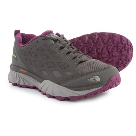 The North Face Endurus Hike Gore-Tex® Hiking Shoes - Waterproof (For Women) in Dark Gull Grey/Amaranth Purple
