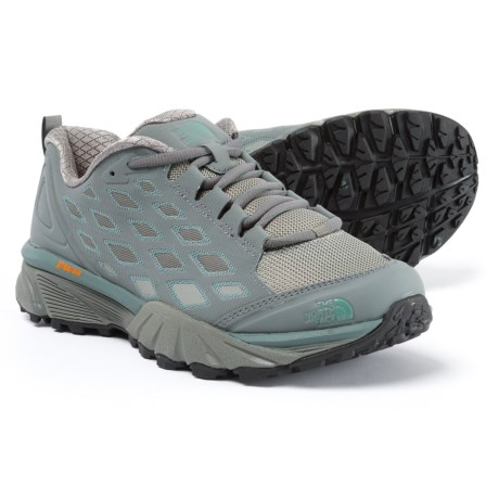 The North Face Endurus Hike Hiking Shoes (For Women) in Sedona Sage Grey/Trellis Green
