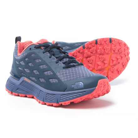 The North Face Endurus TR Trail Running Shoes (For Women) in Coastal Fjord Blue/Cayenne Red - Closeouts