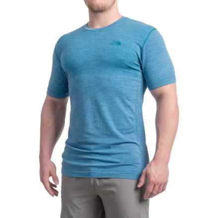 The North Face English Wool T-Shirt - Short Sleeve (For Men) in Banff Blue White Heather - Closeouts