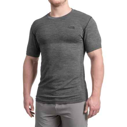 The North Face English Wool T-Shirt - Short Sleeve (For Men) in Tnf Dark Grey Heather - Closeouts